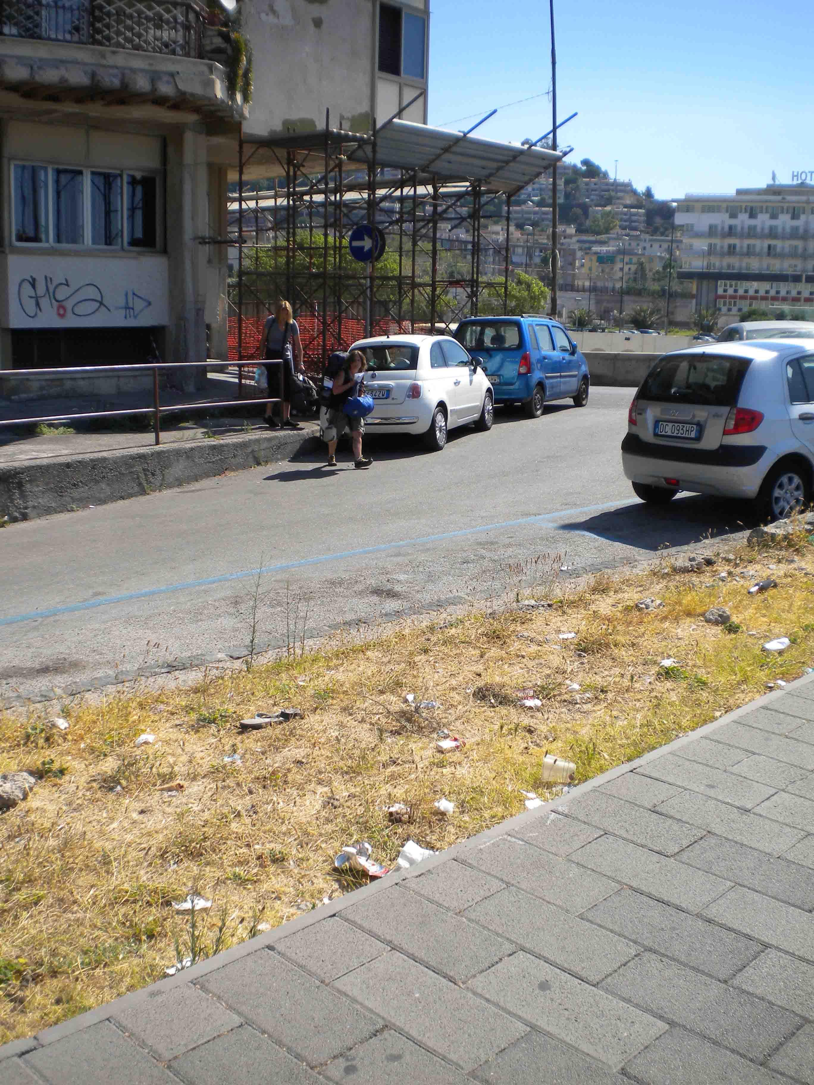 Salerno, sotto la bella immagine il grande degrado
