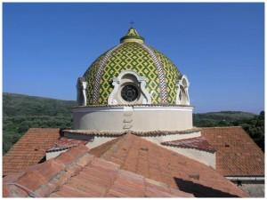 Lentiscosa (Camerota), cupola della Chiesa di S. Maria delle Grazie