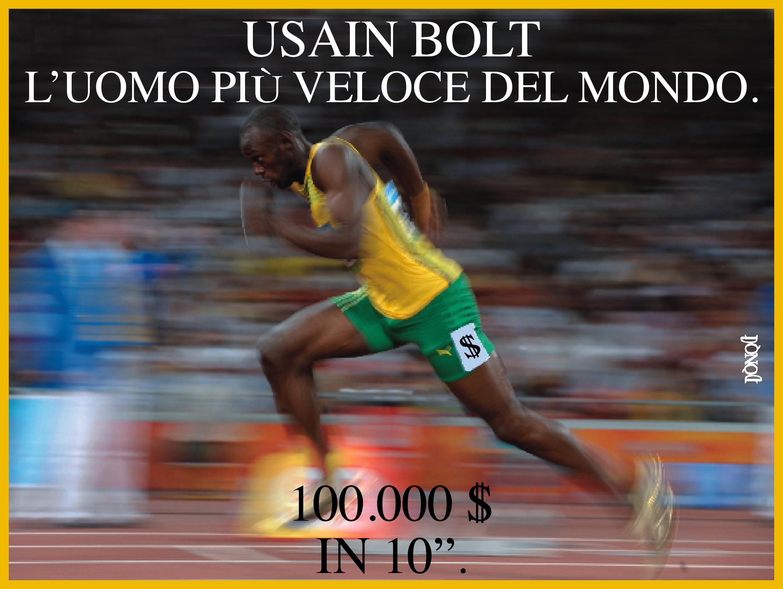 Bolt sold, quando il tempo è danaro…
