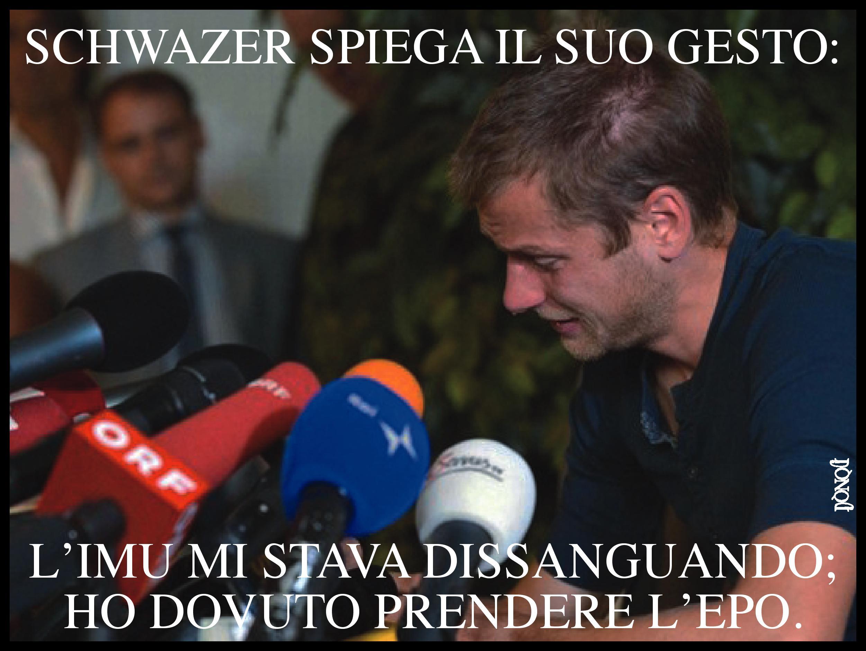 Il doping anti-stress di Schwazer per un fis[i]co bestiale