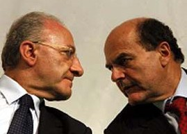 Bersani-De Luca, le distanze tra i due sono inconciliabili
