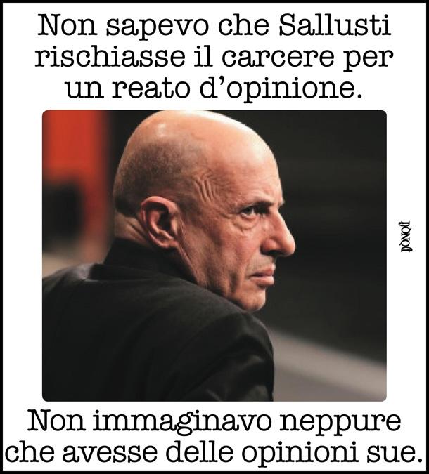 Pericolosità sociale delle opinioni di Alessandro Sallusti?