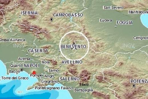 Scossa di terremoto alle tre di notte nel Beneventano