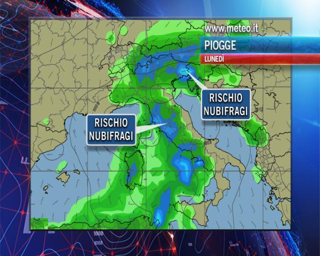 Allarme in Campania per il nubifragio in arrivo