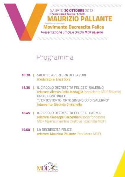 Circolo per la Decrescita Felice, sabato la presentazione a Salerno