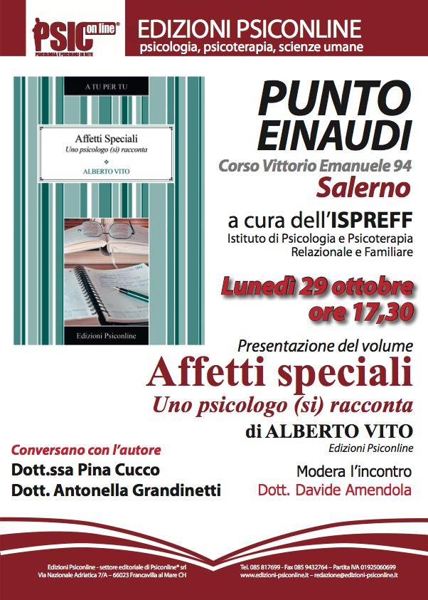 """""""Affetti speciali"""" dello psicologo Alberto Vito a Salerno"""