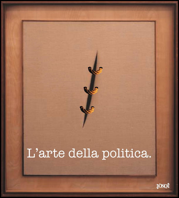Toppa e rappezzi nell'arazzo della politica