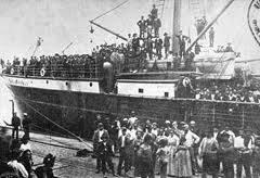 Mostra sull'emigrazione italiana nelle Americhe – Partono i bastimenti