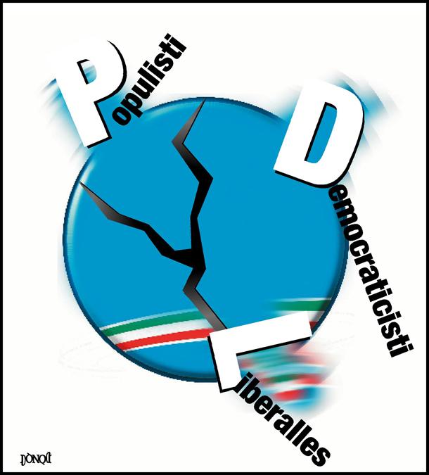 Il PDL si frantuma in tre schegge antagoniste