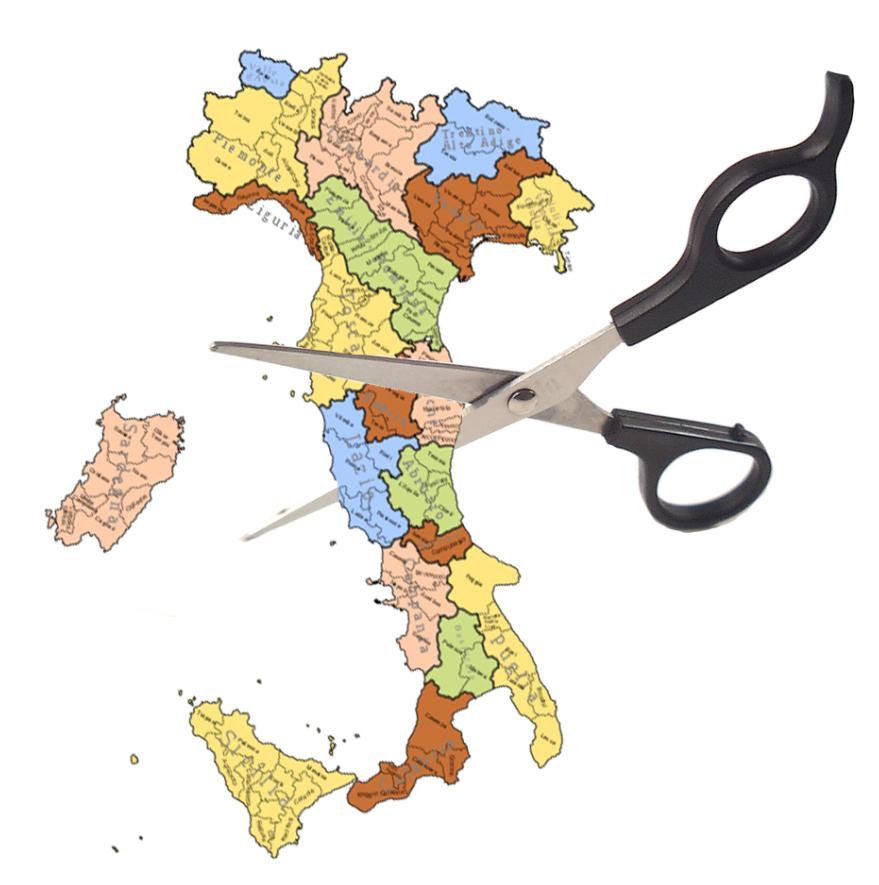 Da gennaio soppresse le Province 'superflue', tagliati gli assessori