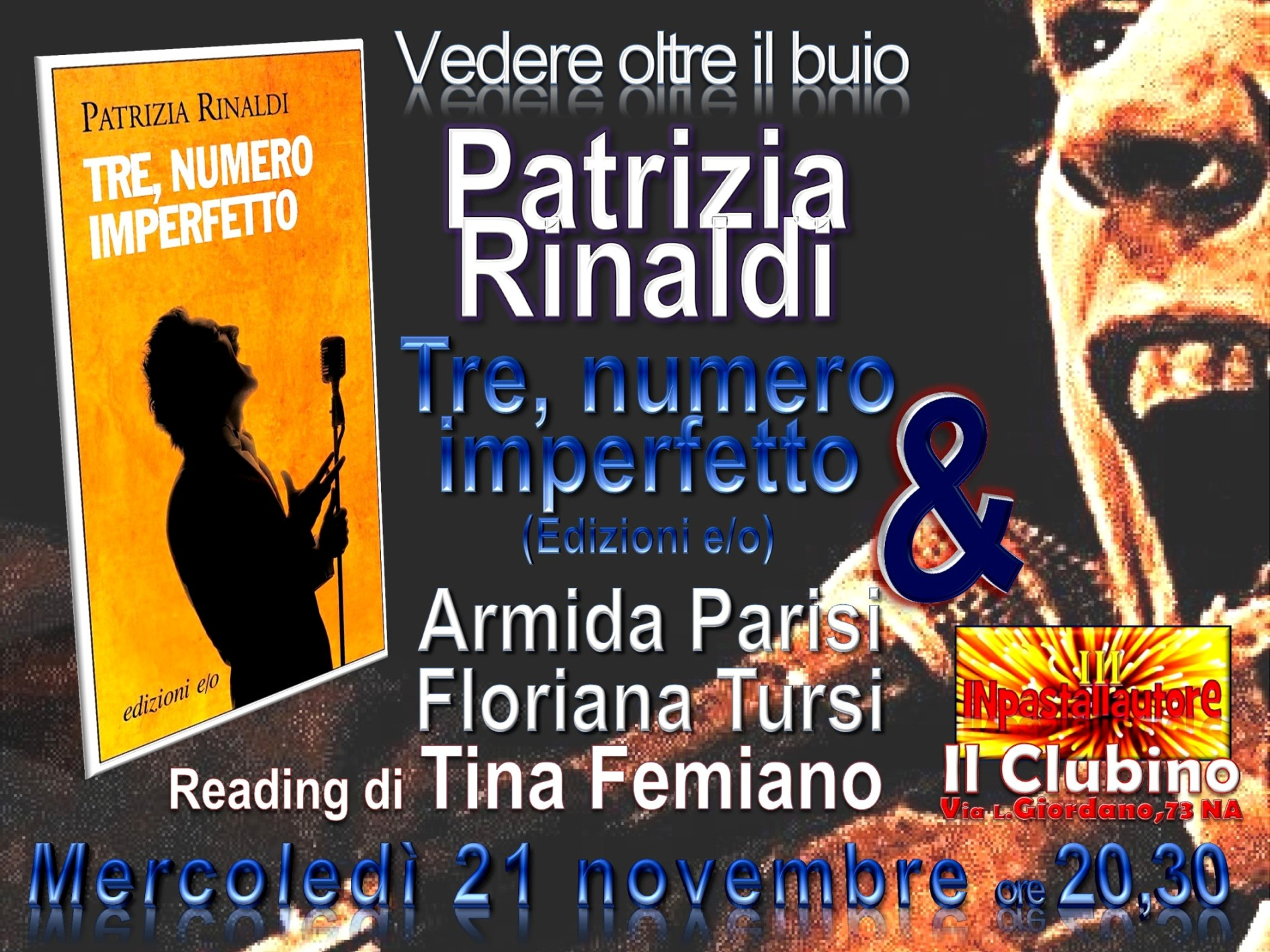 Vedere oltre il buio: il 21 novembre Patrizia Rinaldi è a Inpastallautore