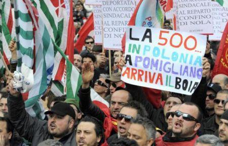 La rivolta di Pomigliano, fischi a tutti i politici presenti