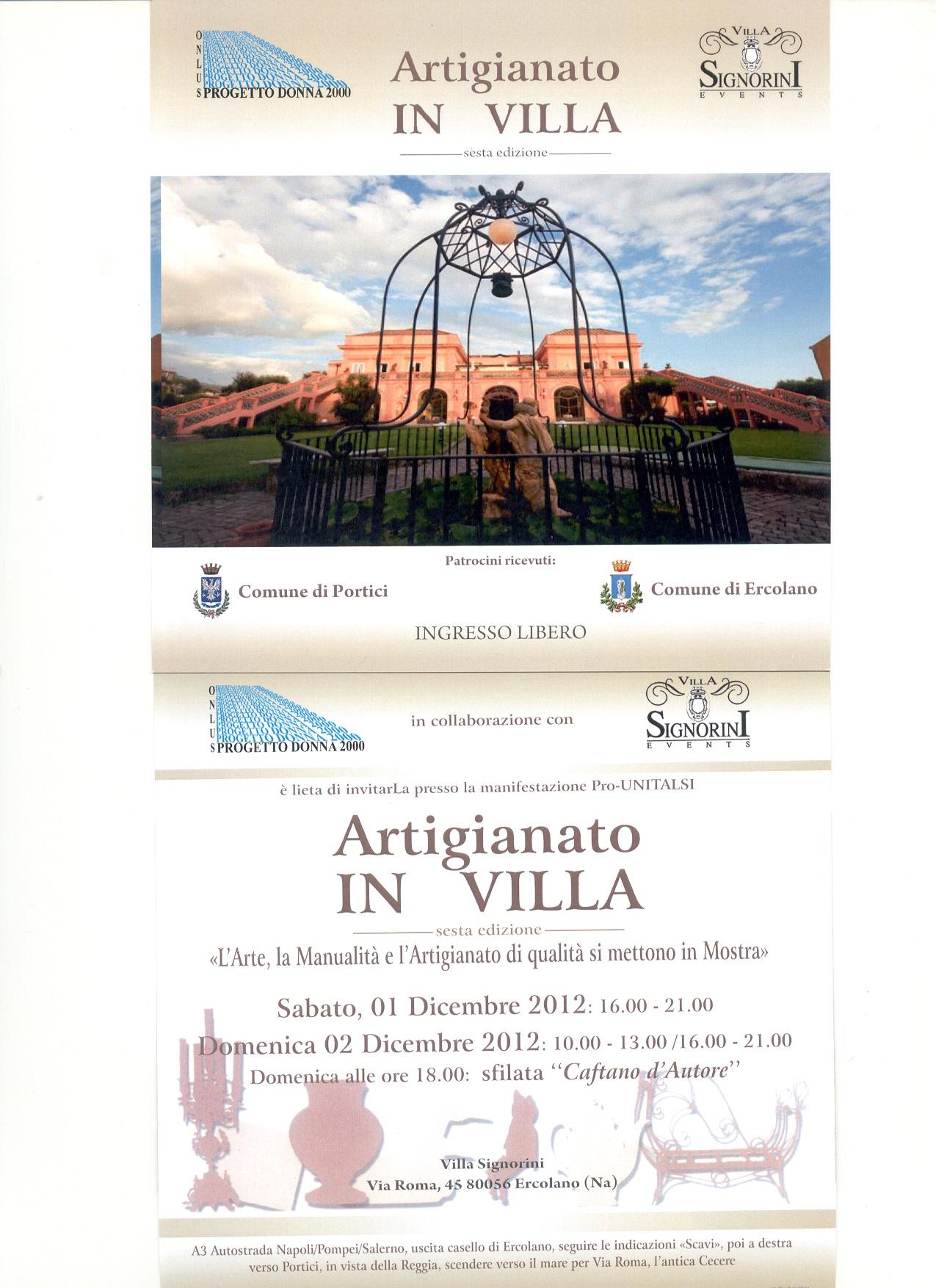 Ercolano: l'arte, la creatività e l'artigianato di qualità in mostra a Villa Signorini