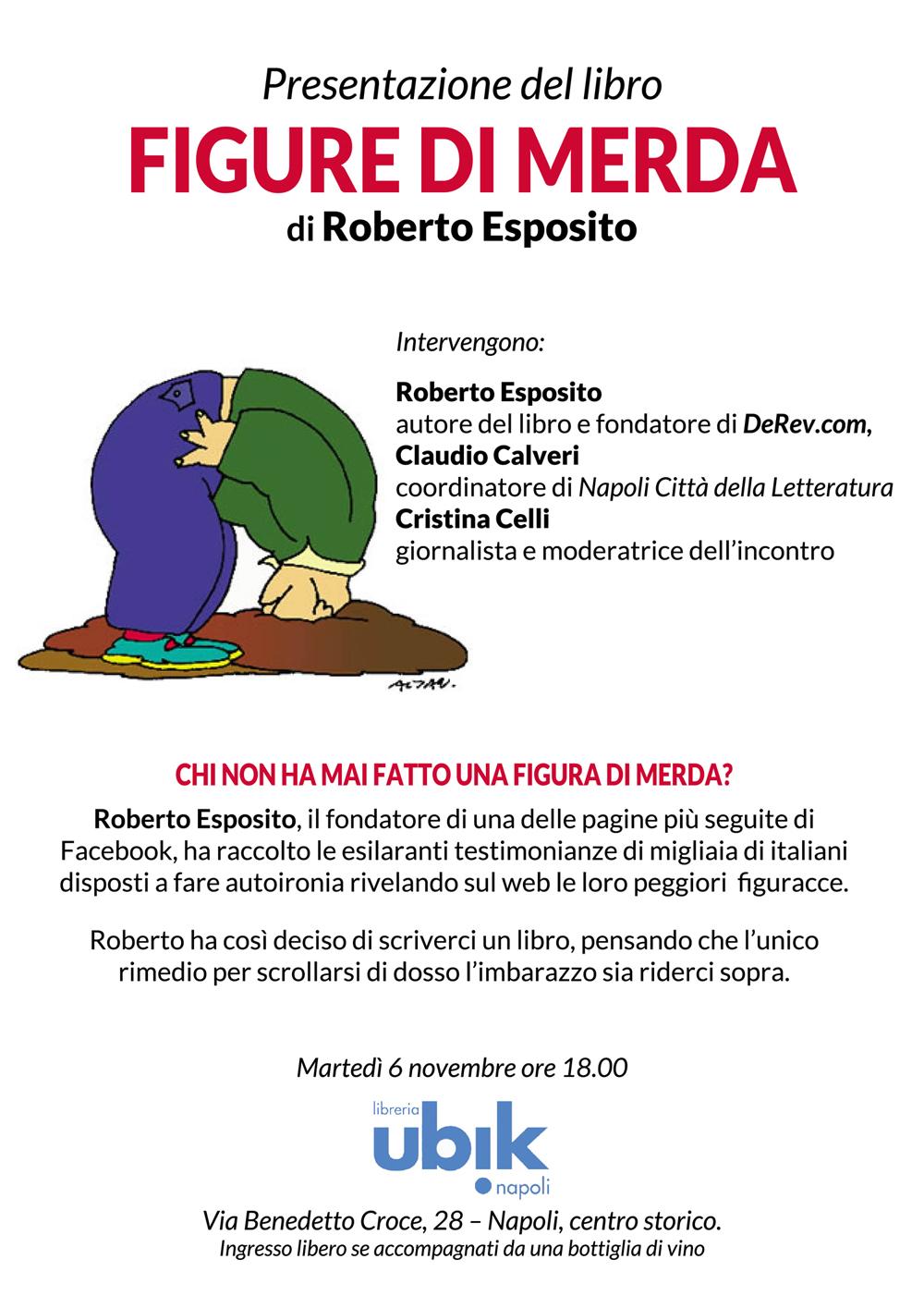 """Napoli, presentazione del libro """"Figure di merda"""" di Roberto Esposito"""