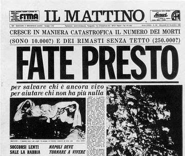 Cratere infinito per ricordare il 23 novembre 1980