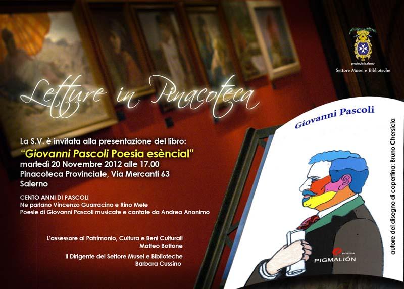 """""""Letture in Pinacoteca""""-20/11/2012, Museo Provinciale di Salerno"""