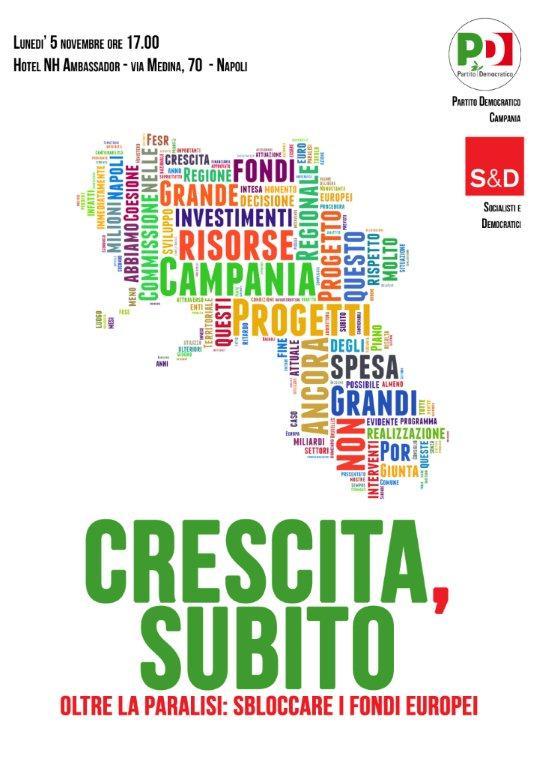 Pd Campania, lunedì dibattito sui fondi Ue