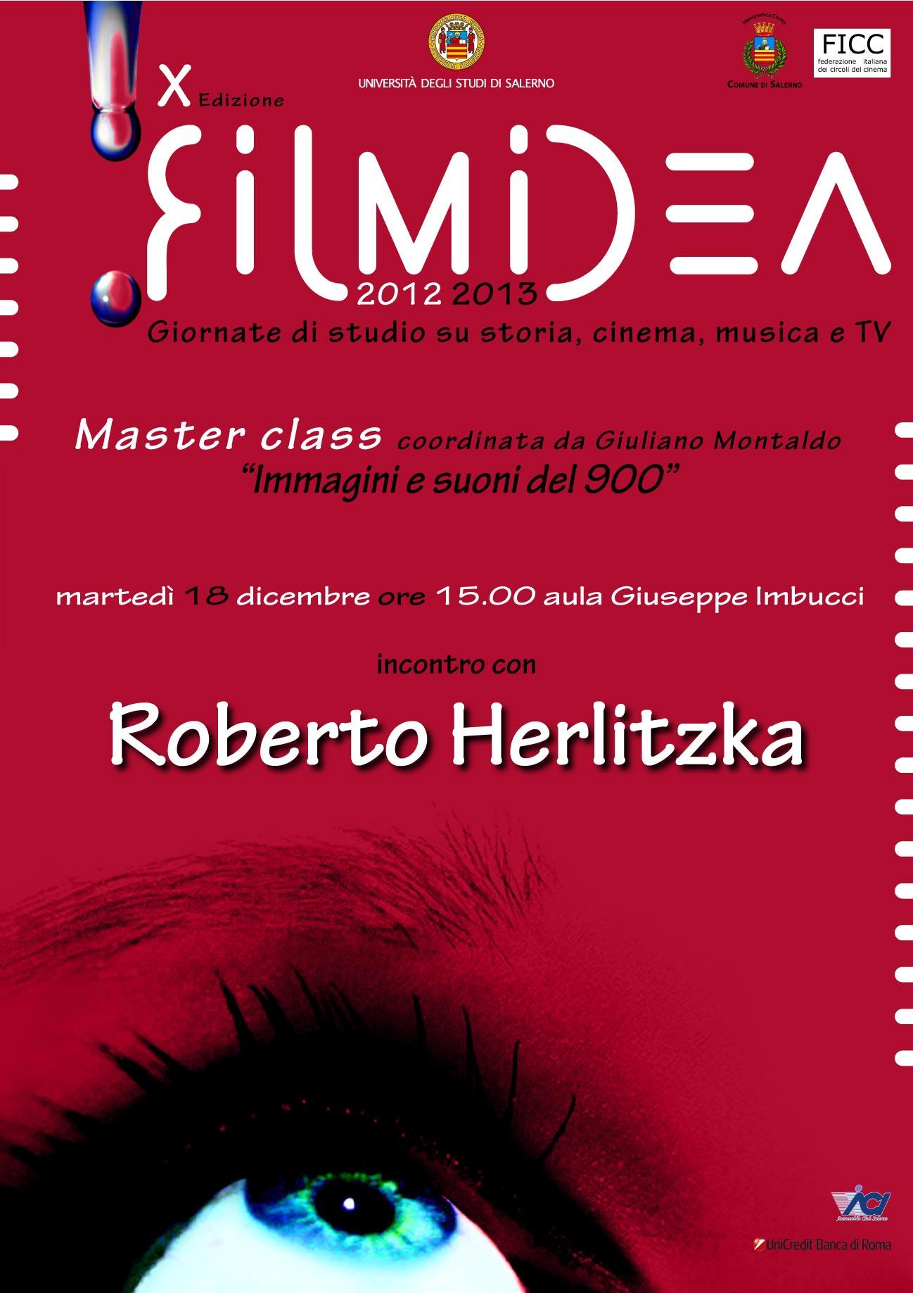 Masterclass Filmidea. Giornate di studio su storia, cinema, musica e tv