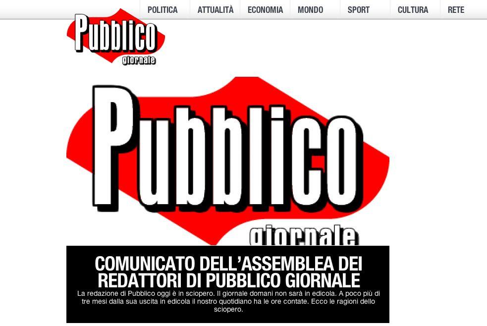 """""""Pubblico"""" dopo 3 mesi chiude: il 31 dicembre ultimo numero"""