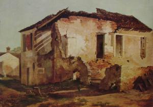 Casa diroccata (Domenico Bresolin, (Padova 1813 - Venezia 1899)