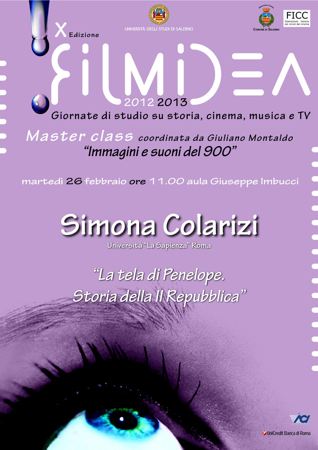 """""""La tela di Penelope. Storia della II Repubblica"""", Simona Colarizi all'Unisa"""
