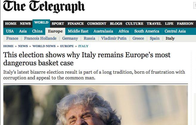 Daily Telegraph: in Italia la situazione politica è disperata