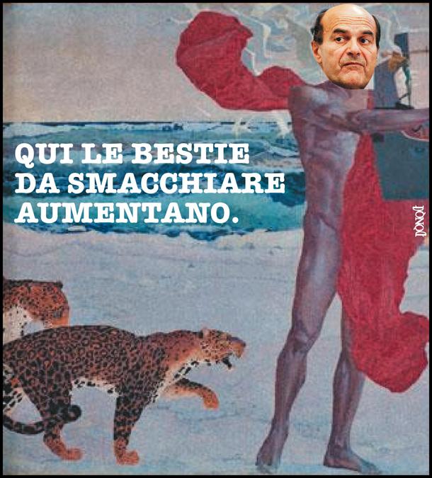 L'amletico Bersani piange sui giaguari feriti