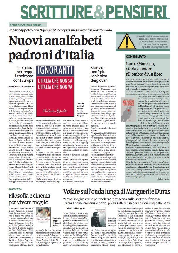 Scritture & Pensieri, il domenicale del Corriere Nazionale