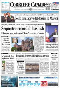 Corriere Canadese Cover