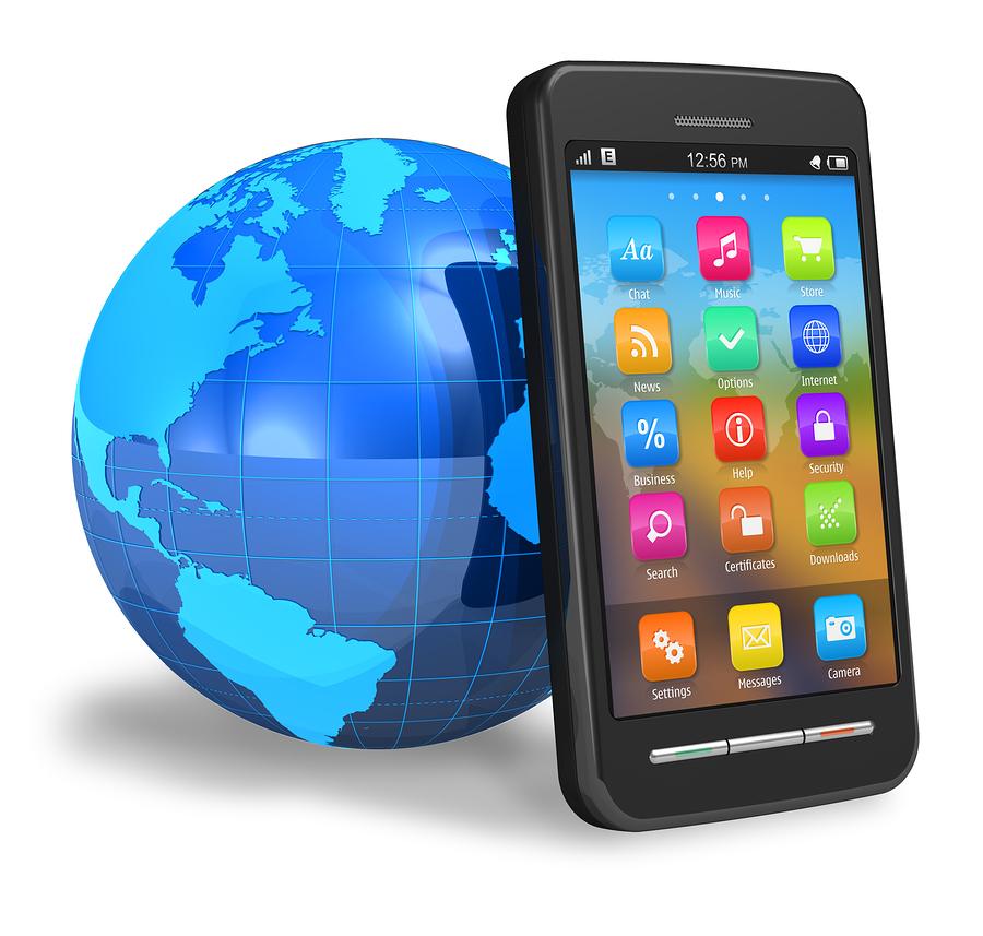 touchscreen smartphone with earth globe i confronti geogiornalismo e banca delle idee. Black Bedroom Furniture Sets. Home Design Ideas