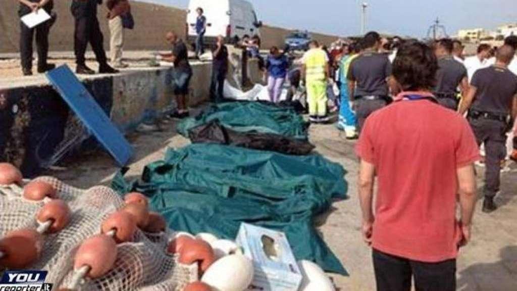 """""""A Lampedusa 'o mare è 'nfuso"""". Vergogna"""