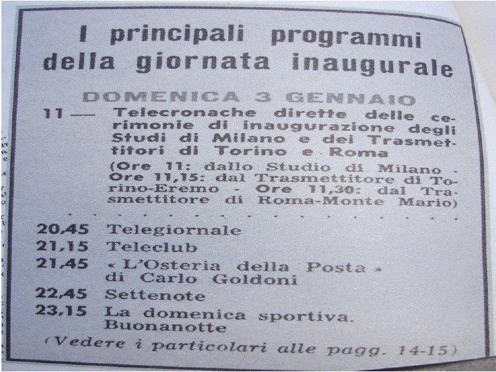 La televisione italiana oggi compie 60 anni