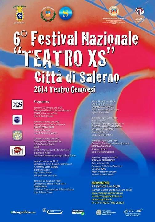 """Salerno, 6° edizione del """"Teatro XS"""""""