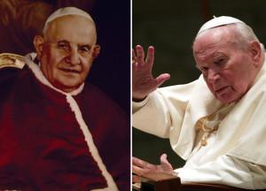 Papa Giovanni XXIII e Papa Wojtyla