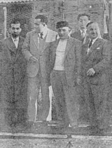 Il sindaco Rago è il terzo da sinistra (ha il cappello)