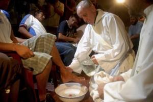 Lavanda dei piedi con papa Francesco