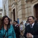 Il sindaco Vitantonio Caliandro e Carmen Mancarella