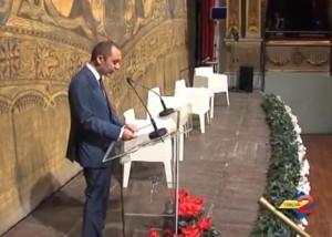 Il presidente Maccauro durante la sua relazione