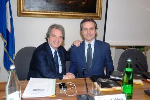 Renato Brunetta con il governatore Caldoro