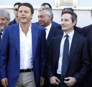 Renzi con il governatore Caldoro