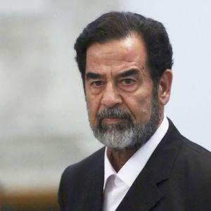 Il dittatore iracheno Saddam Hussein