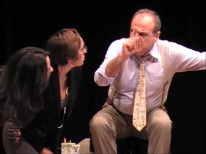 L'attore e regista Alfonso Liguori in scena