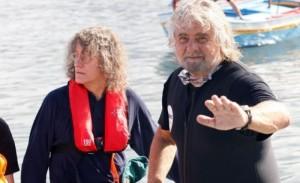 Giandomenico Casaleggio con Beppe Grillo