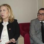 La ministra del turismo e il direttore generale dell'ente del turismo tunisino