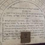 Lapide della sinagoga