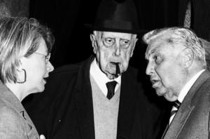 Mascilli Migliorini con Carlo Bo (al centro)