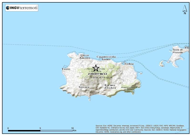 Terremoto dell'Isola d'Ischia del 21 agosto 2017: dichiarazione del Presidente dell'INGV, Carlo Doglioni