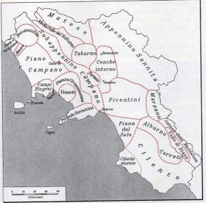 La ripartizione sub-regionale della Campania