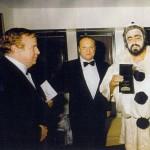 Il regista Prisco tra Zeffirelli e Pavarotti
