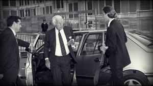 L'avvocato Gianni Agnelli prova la Croma